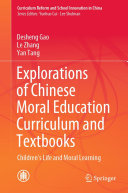 Pdf Explorations of Chinese Moral Education Curriculum and Textbooks Telecharger