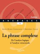 Pdf La phrase complexe - Edition 2002 Telecharger