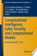 Computational Intelligence Cyber Security And Computational Models Book PDF