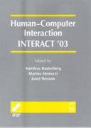 Human-computer Interaction, INTERACT '03
