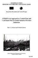 A Field Level Approach To Coastal Peat And Coal Seam Fires In South Sumatra Province Indonesia Book PDF
