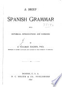 A Brief Spanish Grammar