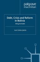 Debt, Crisis Reform Bolivia ebook
