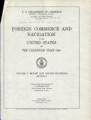 The Foreign Commerce and Navigation of the United States for the Year Ending