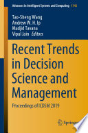 Recent Trends in Decision Science and Management Book