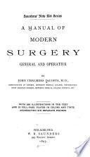 A Manual of Modern Surgery