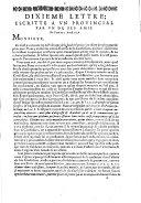 Dixieme lettre, escritte a vn prouincial par vn de ses amis. De Paris ce 2 Aoust 1656