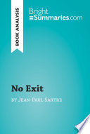 No Exit by Jean Paul Sartre  Book Analysis  Book