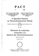 A Specialist Seminar on Thermoluminescence Dating