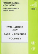 Pesticide Residues in Food   2005