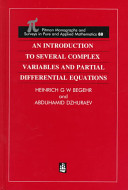 An Introduction to Several Complex Variables and Partial Differential Equations
