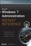 Microsoft Windows 7 Administration Instant Reference Book PDF