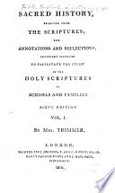 Sacred History, Selected from the Scriptures