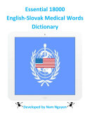 Essential 18000 Medical Words Dictionary In English-Slovak Book