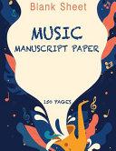 Blank Sheet Music Notebook Saxophone