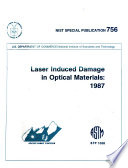 Laser Induced Damage in Optical Materials Book