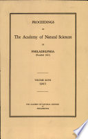 Proceedings of The Academy of Natural Sciences  Vol  XCVII  1945