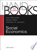 Handbook of Social Economics SET  1A  1B
