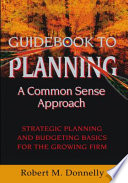 GUIDE BOOK TO PLANNING   A COMMON SENSE APPROACH