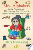 Mrs  Alphabety Basic Vocabulary Dictionary for Children