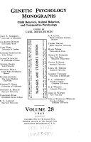 Genetic Psychology Monographs Book