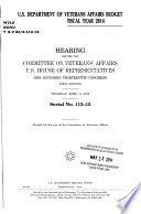 U.S. Department of Veterans Affairs Budget Request for Fiscal Year 2014