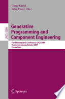 Generative Programming and Component Engineering