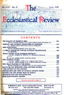 The Ecclesiastical Review