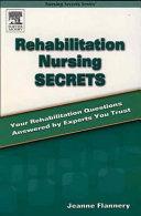 Rehabilitation Nursing Secrets