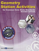 Geometry Station Activities  Common Core State Standards  Revised Edition Book