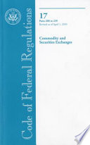Code Of Federal Regulations Title 17 Commodity And Securities Exchanges Pt 200 239 Revised As Of April 1 2010