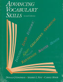 Advancing Vocabulary Skills Book