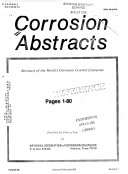 Corrosion Abstracts Book PDF