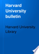 Harvard University Bulletin Book