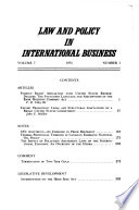 Law and Policy in International Business