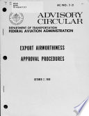 Export Airworthiness Approval Procedures October 2 1969 Book PDF