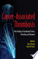 Cancer Associated Thrombosis Book