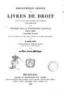Lettres sur la profession d'avocat par Camus