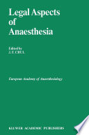 Legal Aspects Of Anaesthesia Book PDF