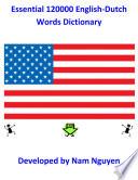 Essential 120000 English Dutch Words Dictionary