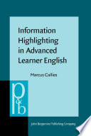 Information Highlighting in Advanced Learner English