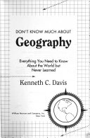 Don t Know Much about Geography Book