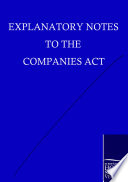 Explanatory Notes to the Companies Act