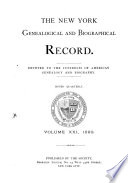 The New York Genealogical and Biographical Record Book PDF