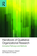 Handbook of Qualitative Organizational Research