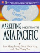 Marketing Insights for the Asia Pacific Book