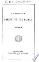 Chambers's Papers for the People