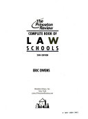 Complete Book Of Law Schools
