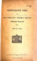 The Legislative Assembly Debates