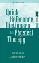 Quick Reference Dictionary For Physical Therapy